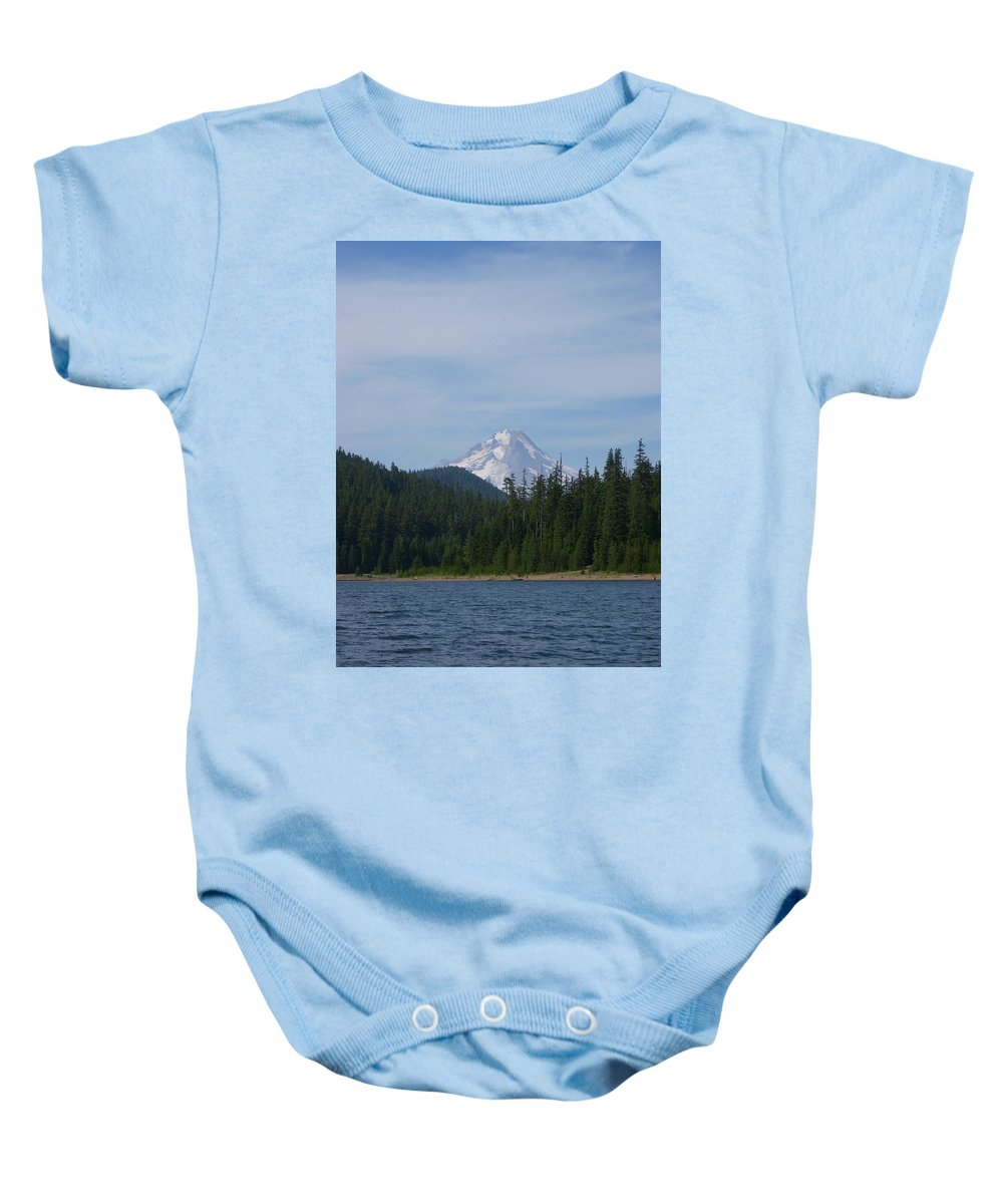 Lake Baby Onesie featuring the photograph Clear Lake by Sara Stevenson