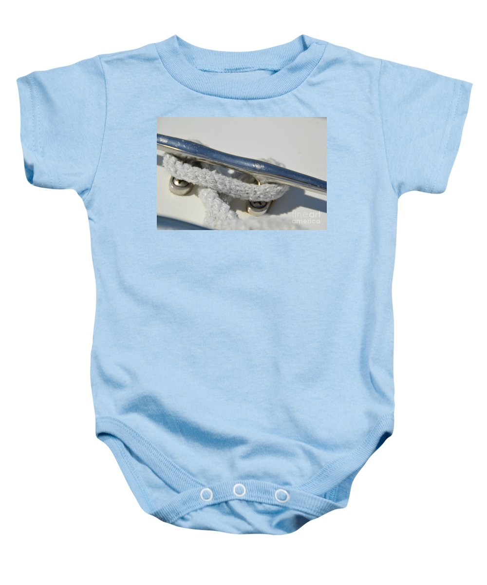 Cleat Baby Onesie featuring the photograph Cleat 2 by Jan Prewett