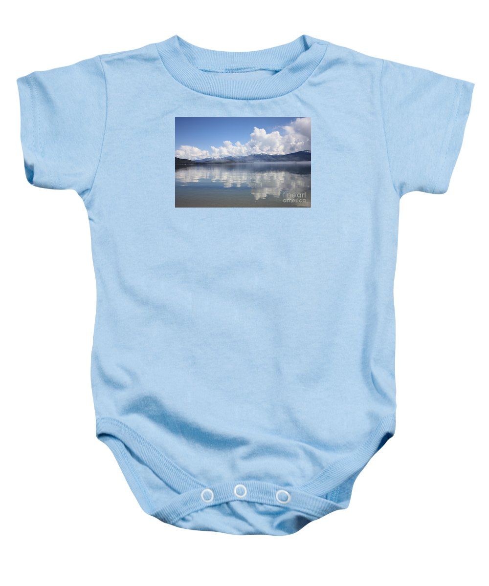 Clouds Baby Onesie featuring the photograph Cloud Reflection On Priest Lake by Carol Groenen