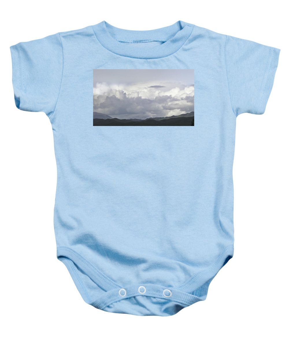 Landscape Baby Onesie featuring the photograph Clouds by Karen W Meyer