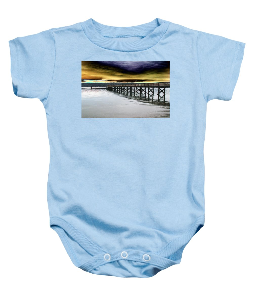 Clouds Baby Onesie featuring the photograph Clouds Over Illahee by Tim Allen