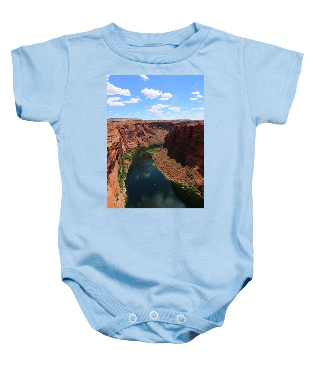River Baby Onesie featuring the photograph Colorado River At Glen Canyon Dam by Christiane Schulze Art And Photography