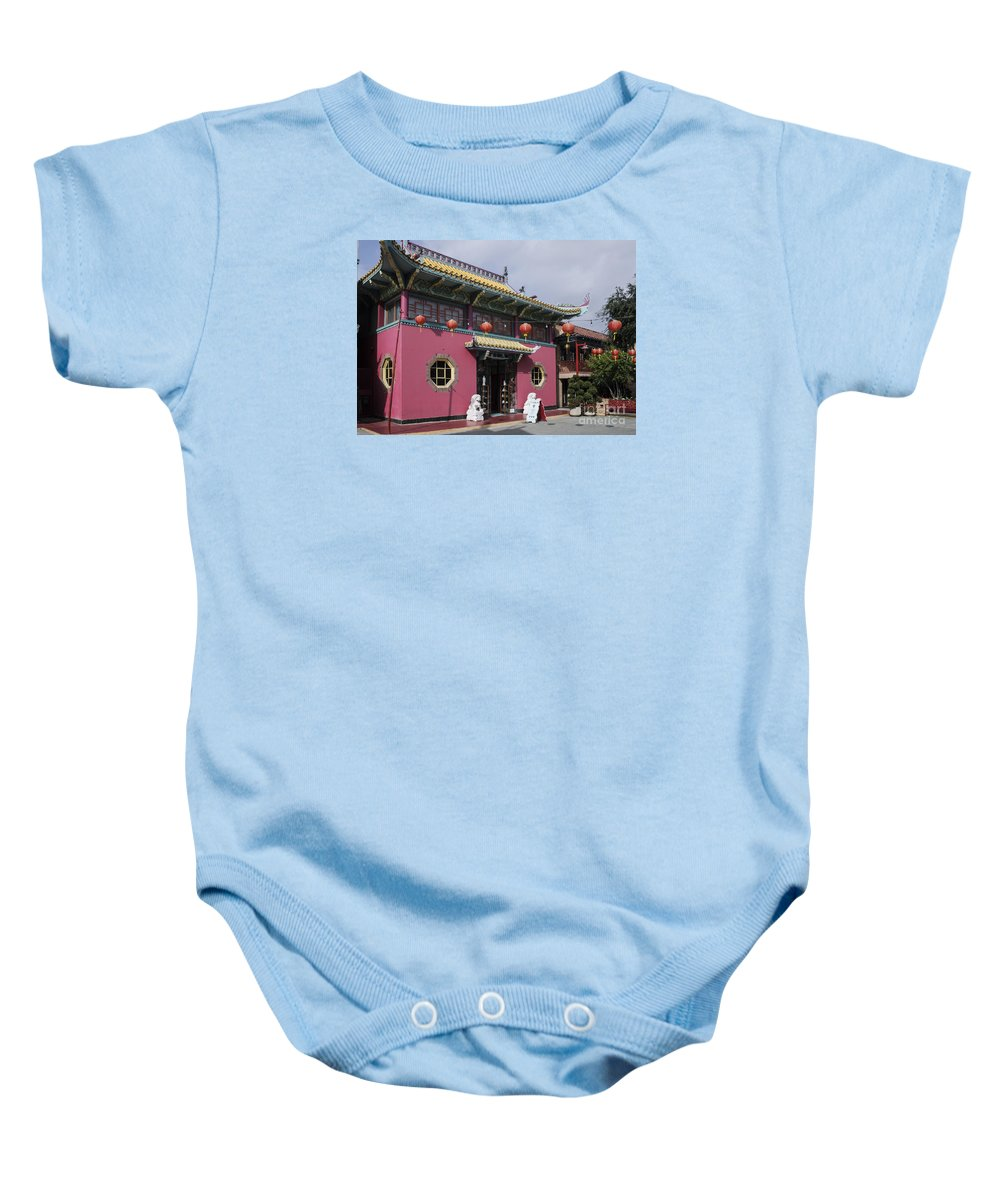 Architecture Baby Onesie featuring the photograph Colorful Chinatown_2 by Kevin McCall