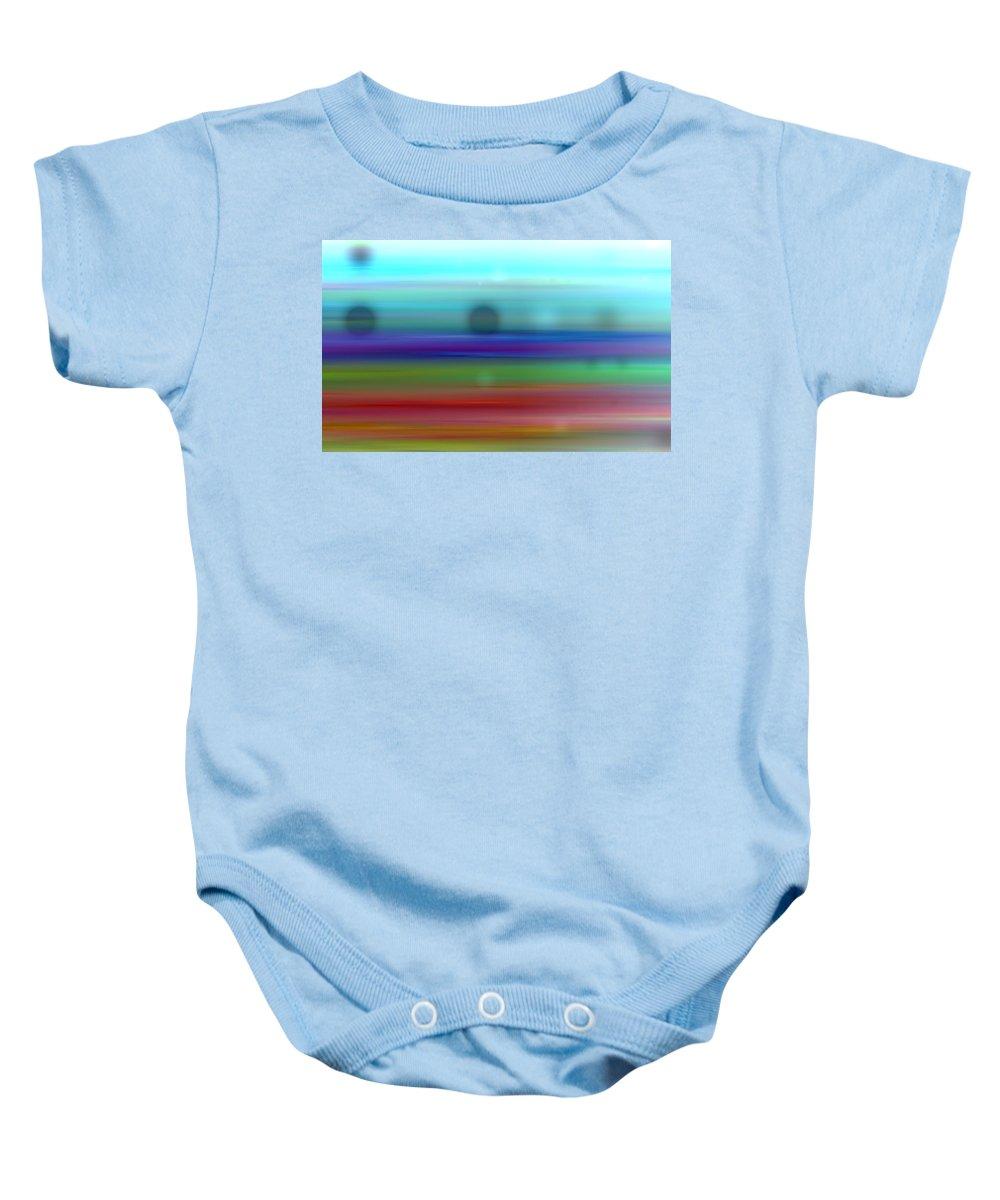 Art Digital Art Baby Onesie featuring the digital art Colour27mlv - Impressions by Alex Porter