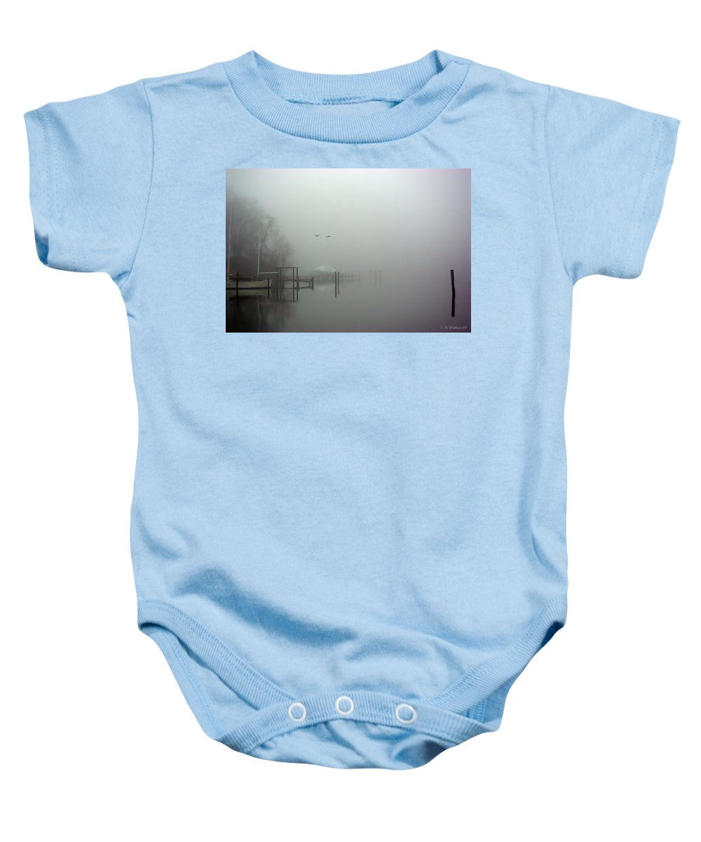2d Baby Onesie featuring the photograph Coming Home by Brian Wallace