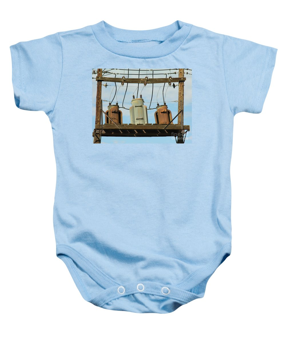 Rusted Baby Onesie featuring the photograph Company by Diane Greco-Lesser