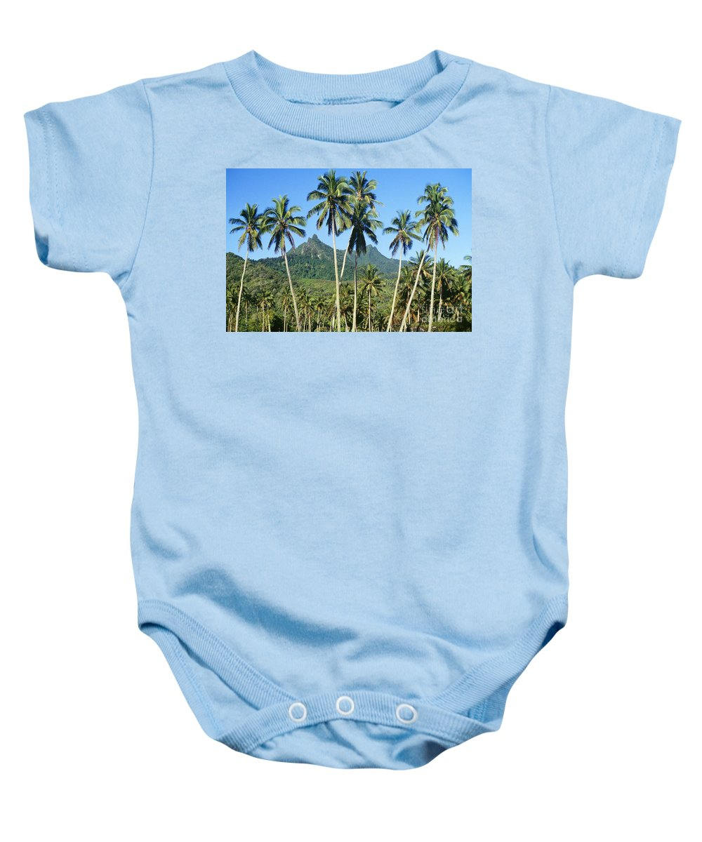 Beautiful Baby Onesie featuring the photograph Cook Islands by Kyle Rothenborg - Printscapes
