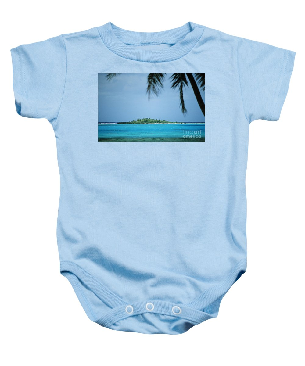 Allan Seiden Baby Onesie featuring the photograph Cook Islands, Rarotonga by Allan Seiden - Printscapes