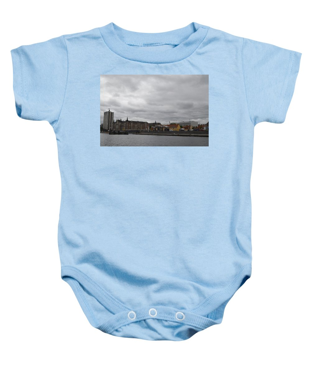 Copenhagen Baby Onesie featuring the photograph Copenhagen Skyline by Erik Burg