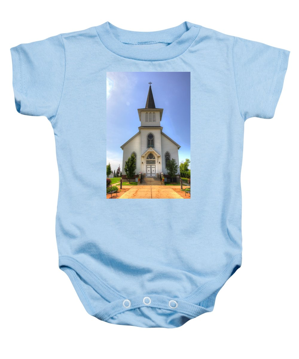 Church Baby Onesie featuring the photograph Country Church by Robert Storost