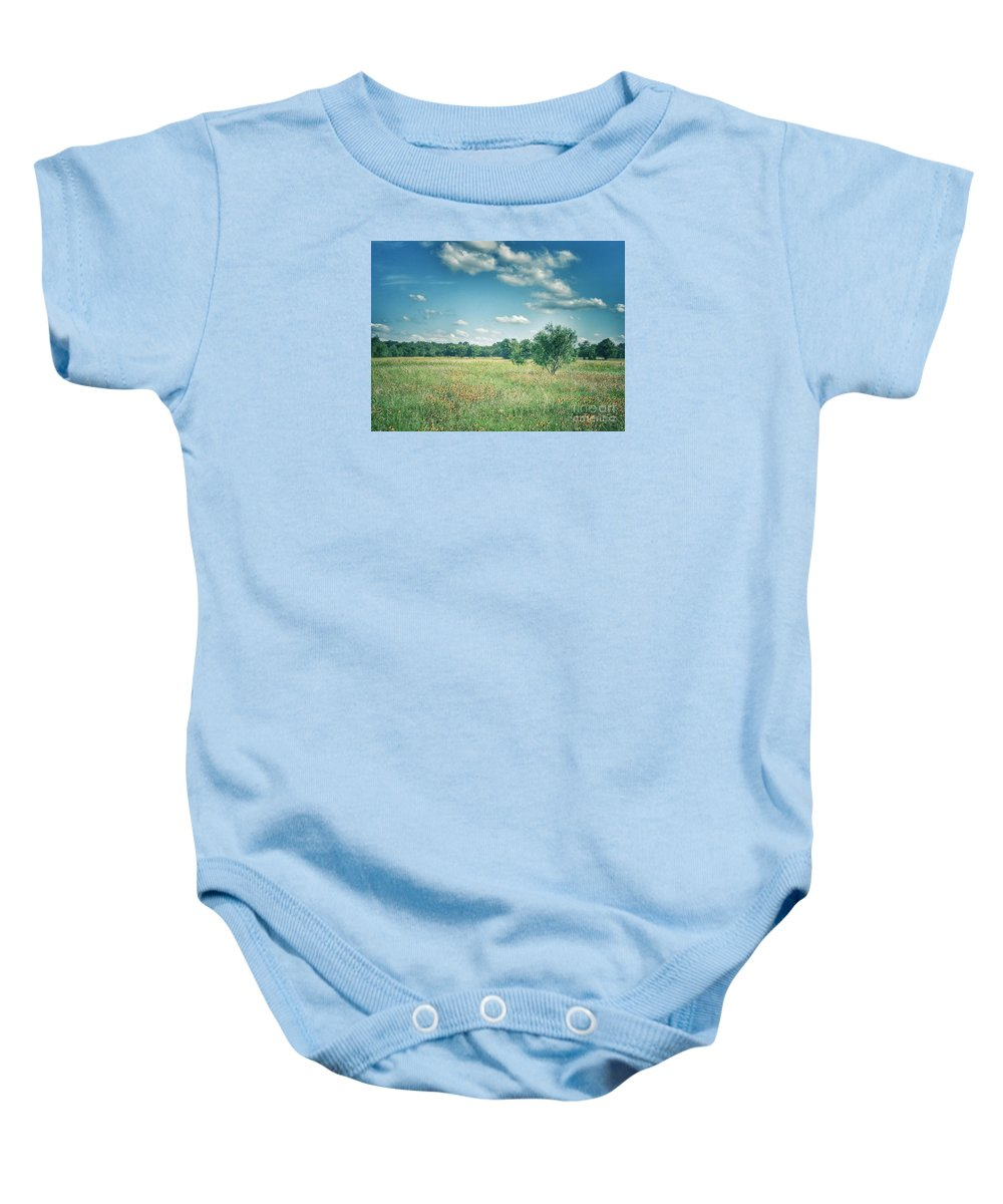 Landscape Baby Onesie featuring the photograph Country Fields by Alicia Martin