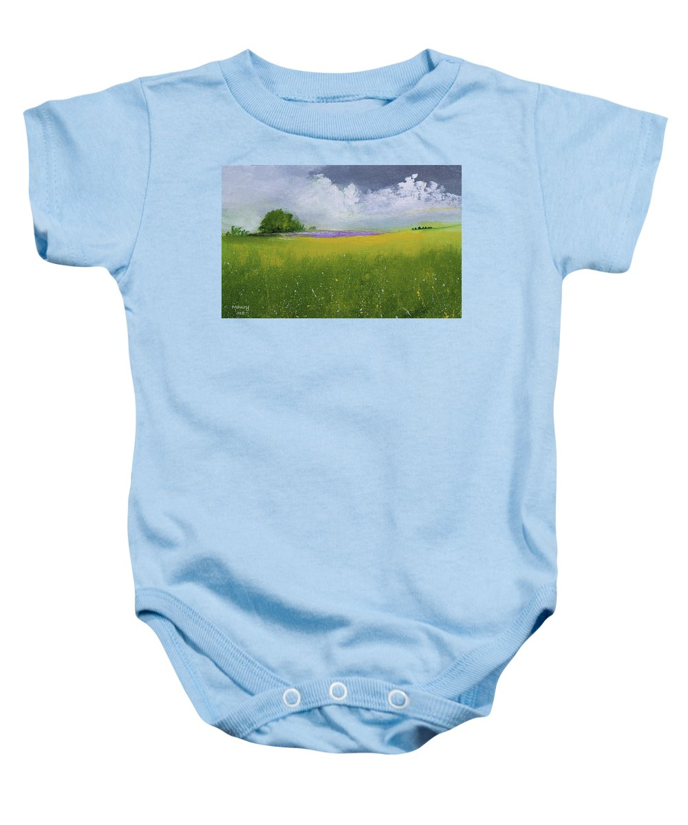 Baby Onesie featuring the painting Country Landscape by Alicia Maury