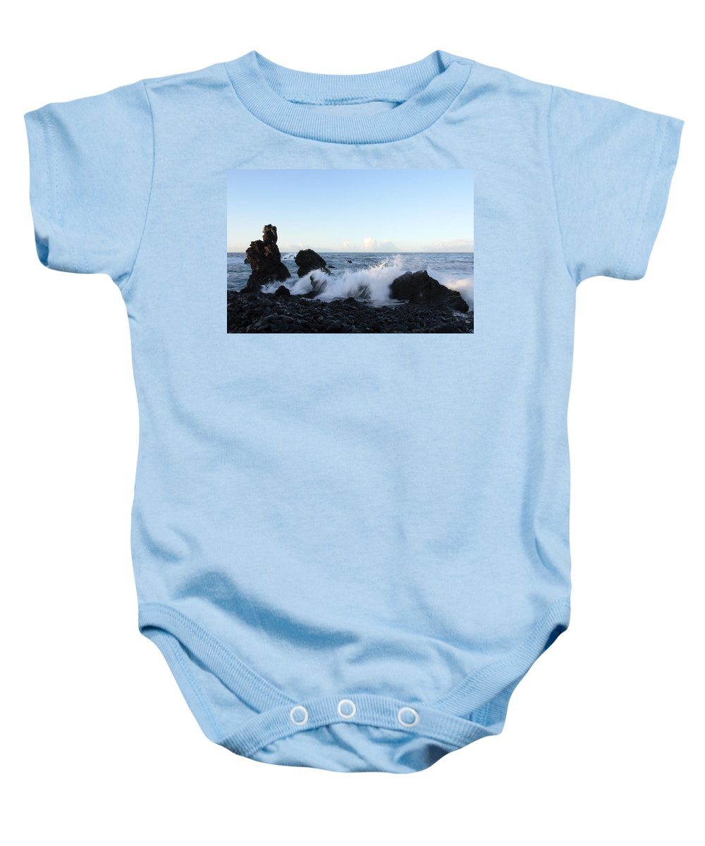 Waves Baby Onesie featuring the photograph Crashing Wave by Phil Crean