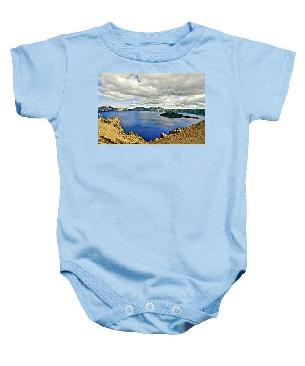 Crater Lake Baby Onesie featuring the photograph Crater Lake I by Albert Seger