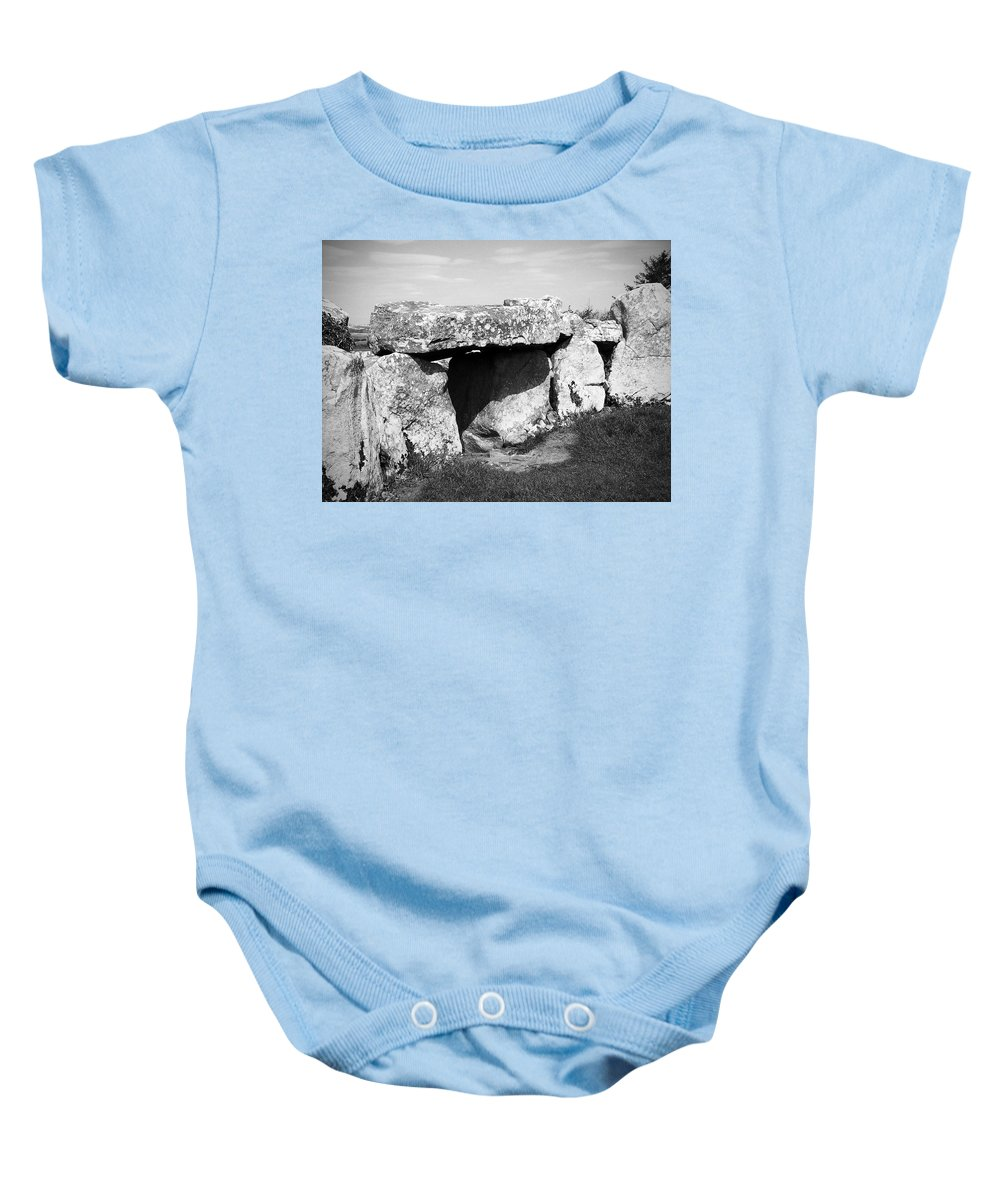 Ireland Baby Onesie featuring the photograph Creevykeel Court Cairn County Sligo Ireland by Teresa Mucha