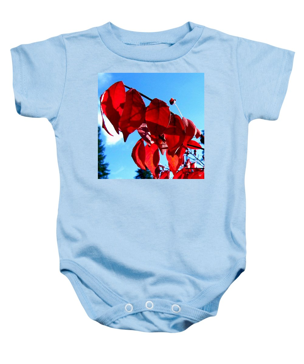Autumn Baby Onesie featuring the photograph Crimson Hill by Will Borden