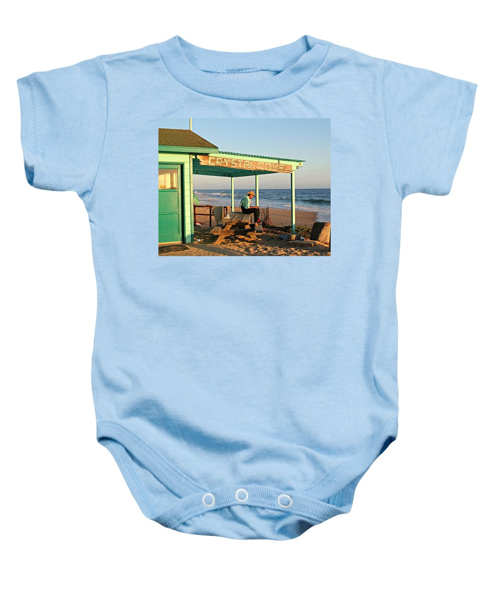 Crystal Cove Baby Onesie featuring the photograph Crystal Cove by Steve Natale