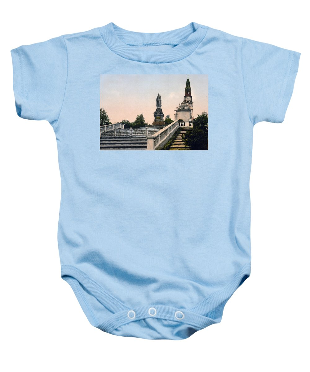 Czestochowa Baby Onesie featuring the photograph Czar Alexanders Monument In Czestochowa - Poland - Ca 1900 by International Images