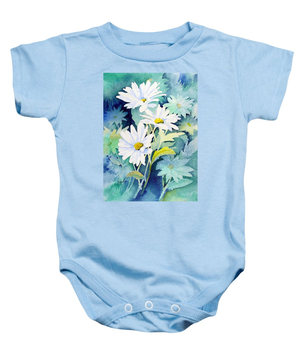 Flowers Baby Onesie featuring the painting Daisies by Sam Sidders