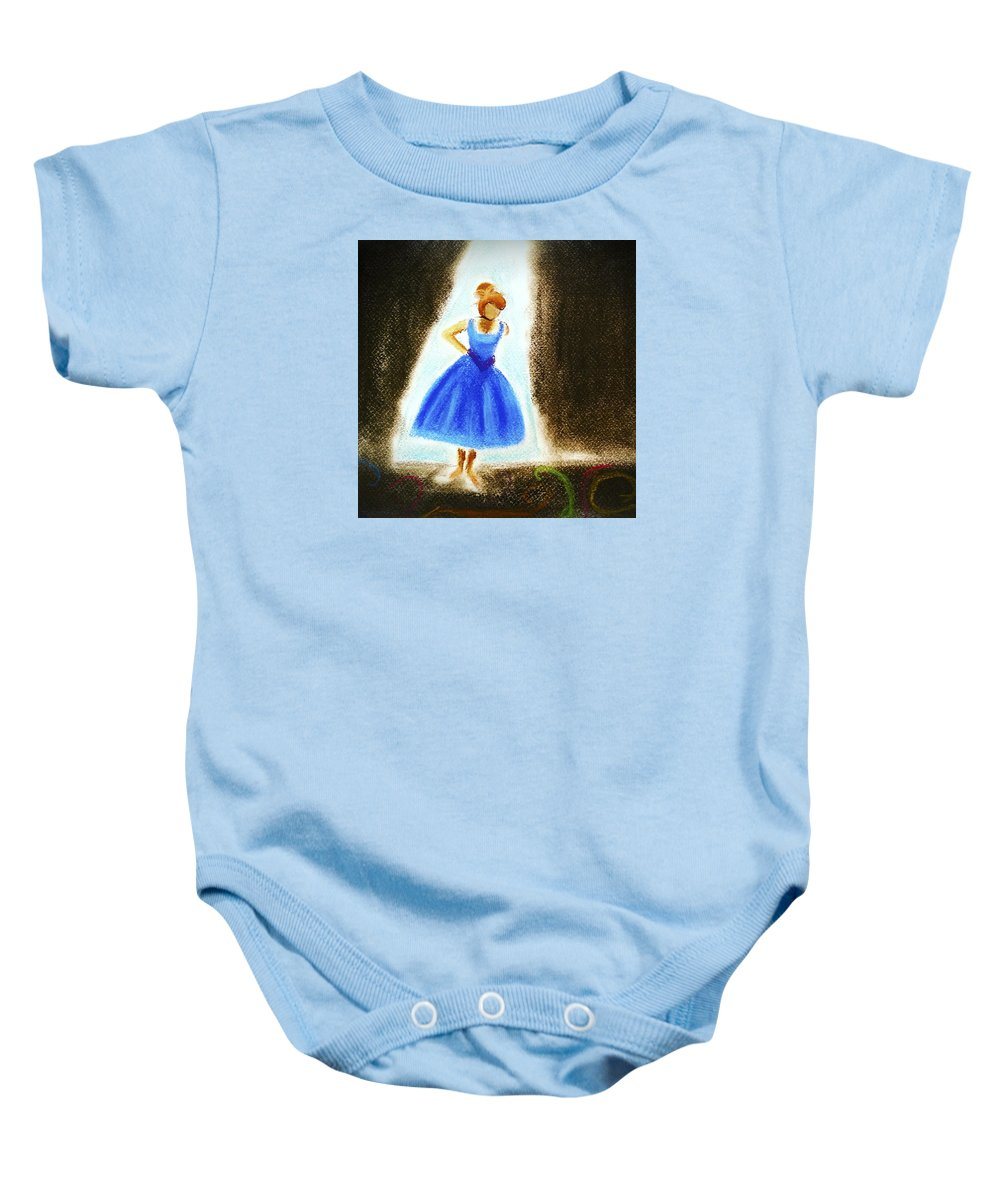Ballet Baby Onesie featuring the pastel Dancer by Lucy Lu