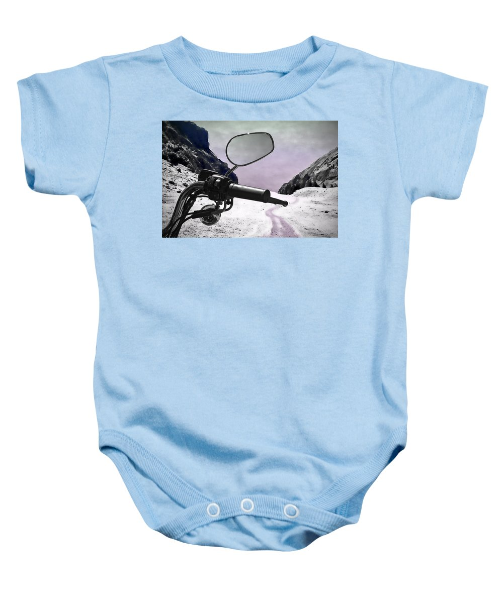Handle Baby Onesie featuring the photograph Daredevil by Evelina Kremsdorf