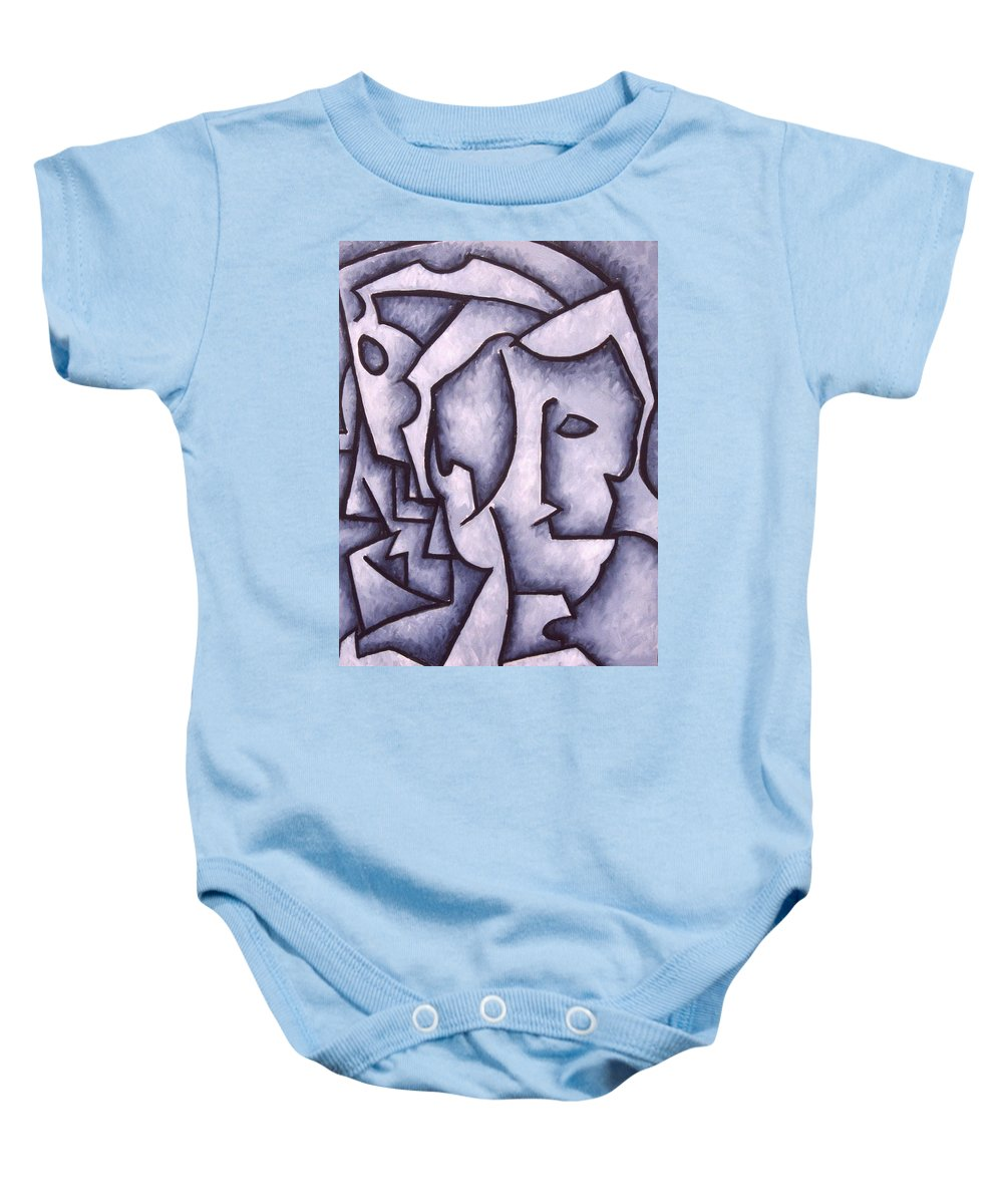 Abstract Baby Onesie featuring the painting David by Thomas Valentine