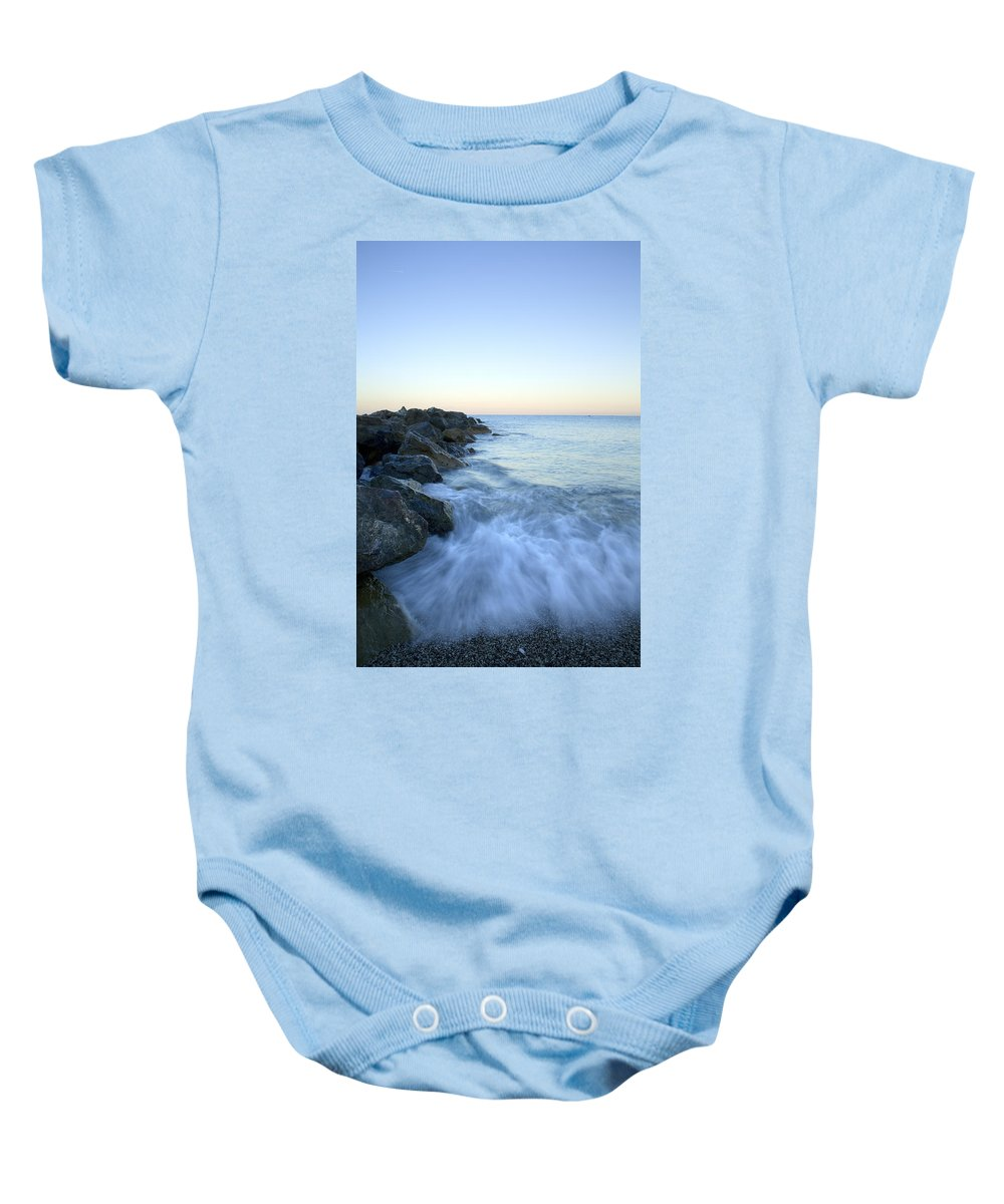 Italy Baby Onesie featuring the photograph Dawn Light In Italy by Ian Middleton