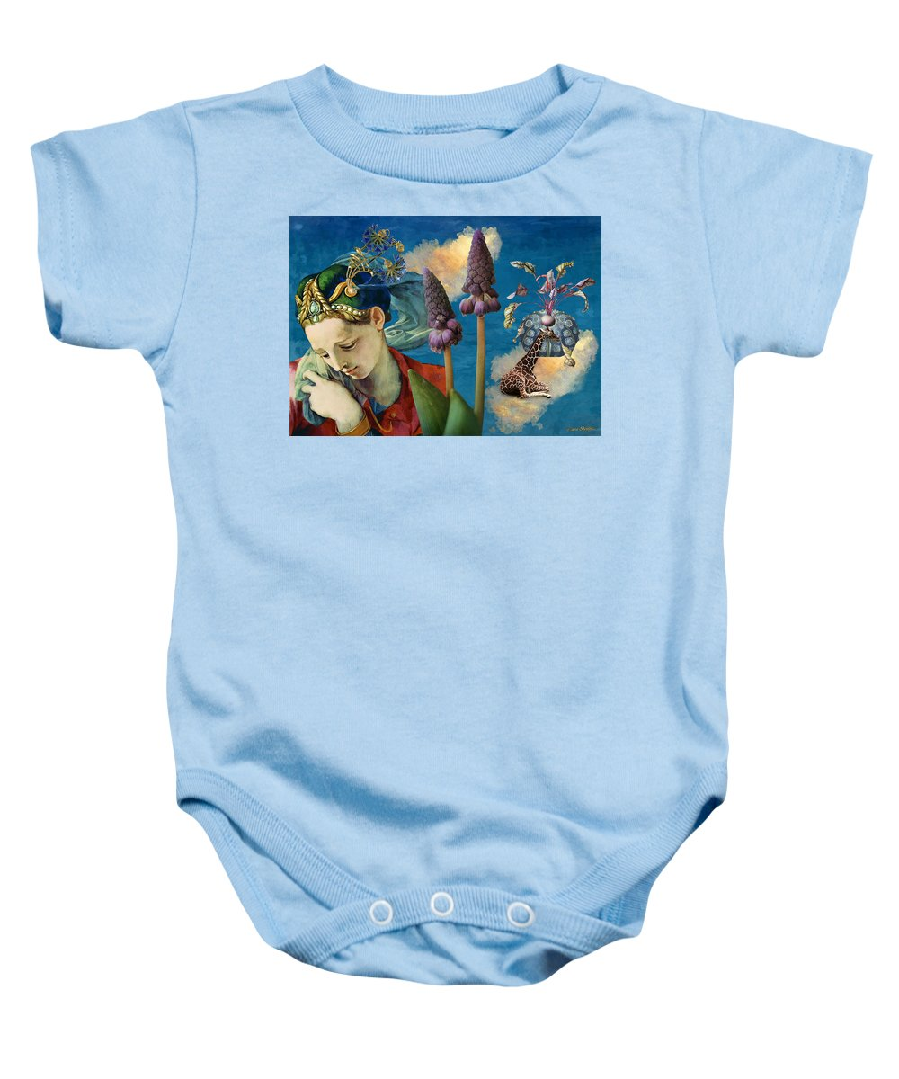 Dreamscape Baby Onesie featuring the digital art Day Dreams by Laura Botsford