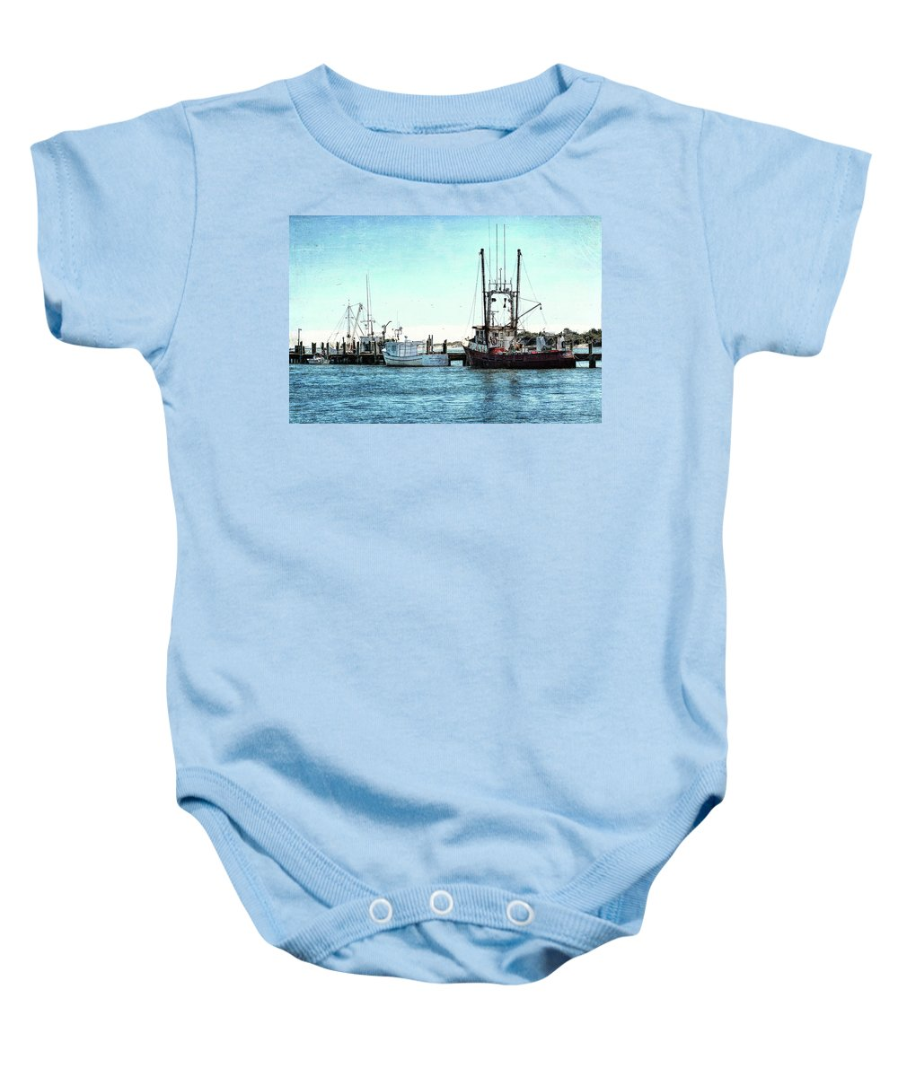 Waterscape Baby Onesie featuring the photograph Days End... by Richard Macquade