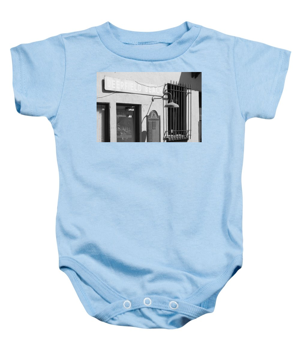 Train Station Baby Onesie featuring the photograph Deerfield Beach Train Station by Rob Hans