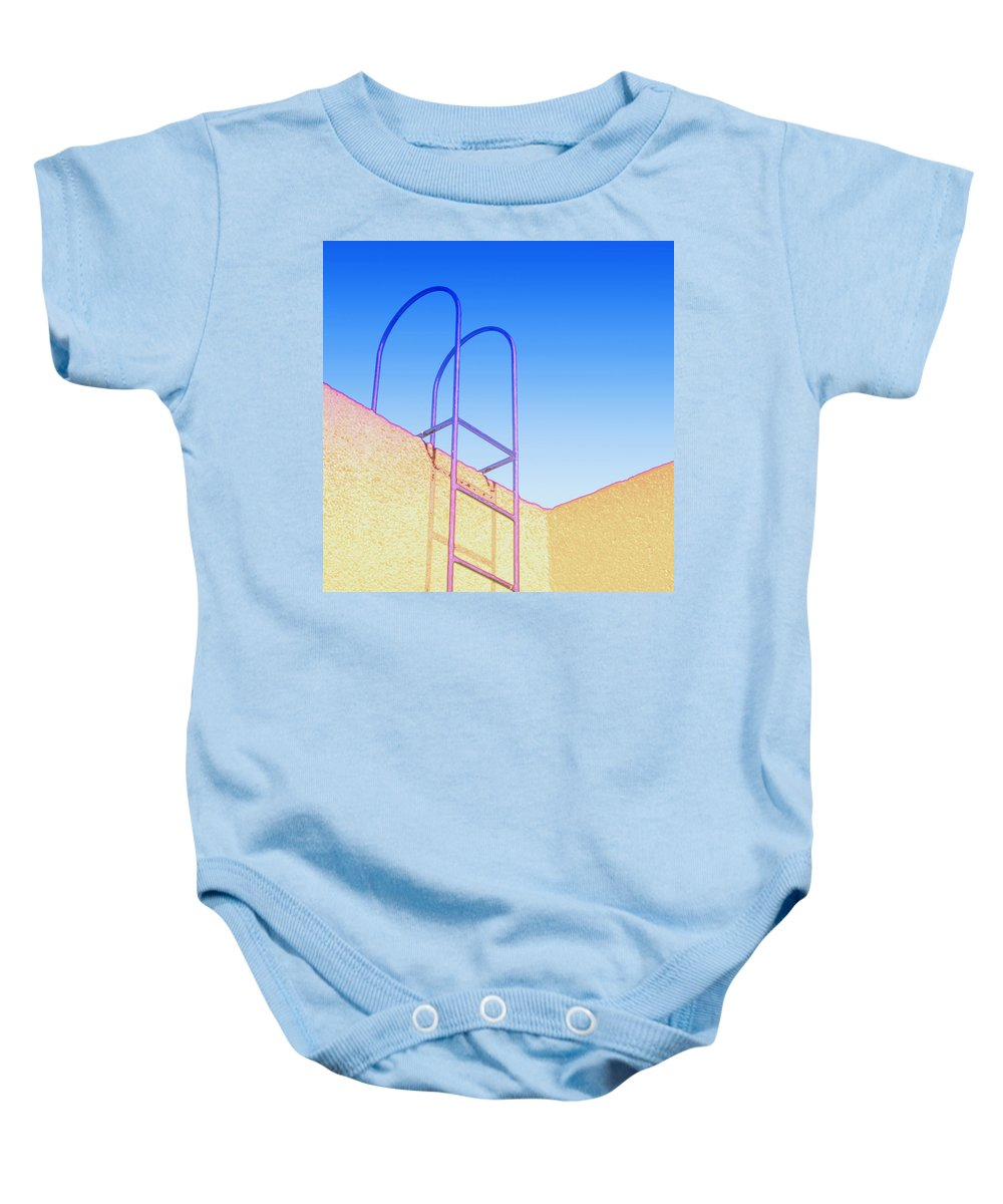 Defcon Baby Onesie featuring the mixed media Defcon 4 by Dominic Piperata