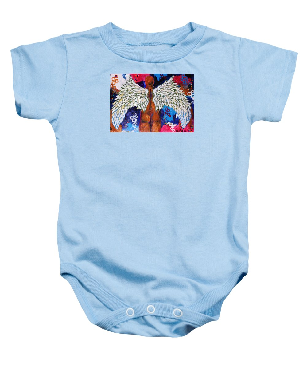 2006 Baby Onesie featuring the painting Descent by Will Felix