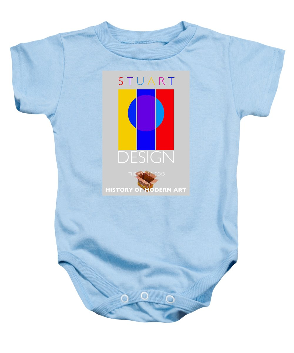 De Stijl Baby Onesie featuring the painting Design Poster by Charles Stuart