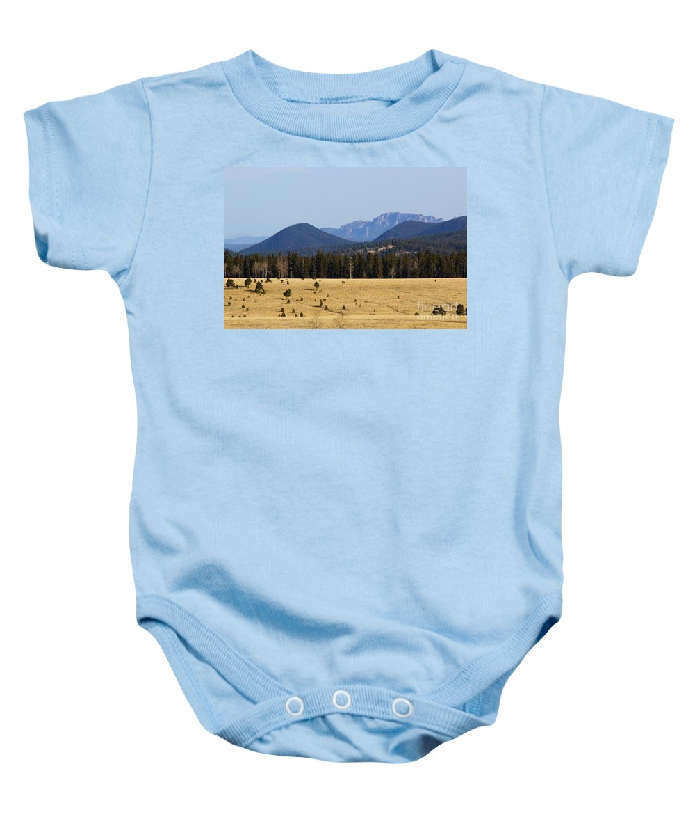 Devil's Head Baby Onesie featuring the photograph Devil's Head Fire Tower In The Pike National Forest by Steve Krull