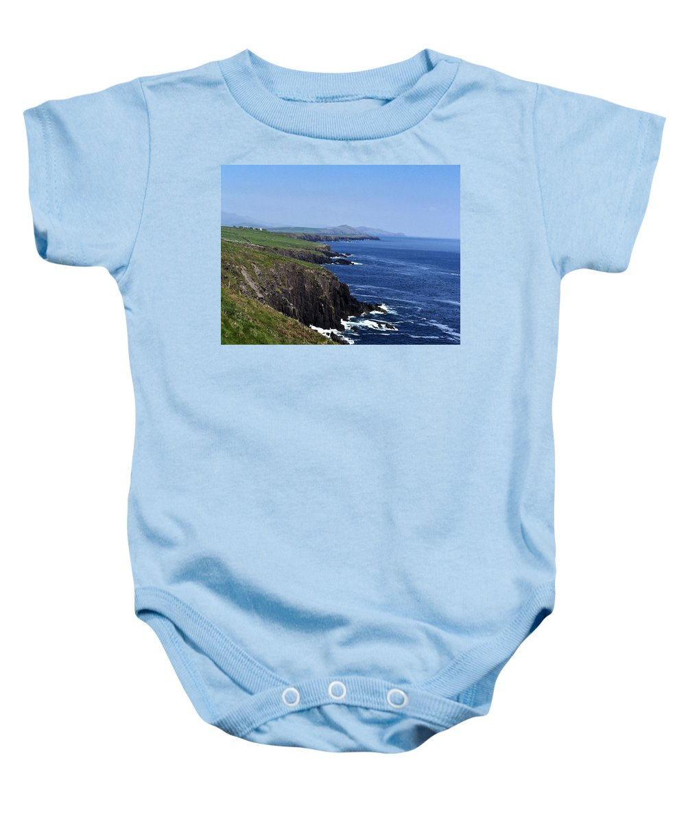 Irish Baby Onesie featuring the photograph Dingle Coast Near Fahan Ireland by Teresa Mucha