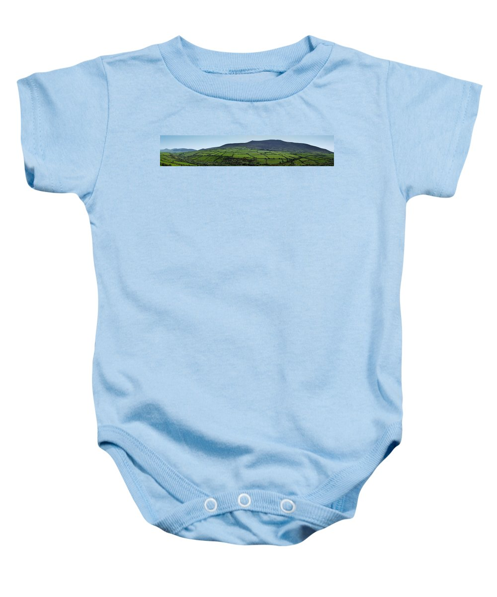 Irish Baby Onesie featuring the photograph Dingle Peninsula Panorama Ireland by Teresa Mucha