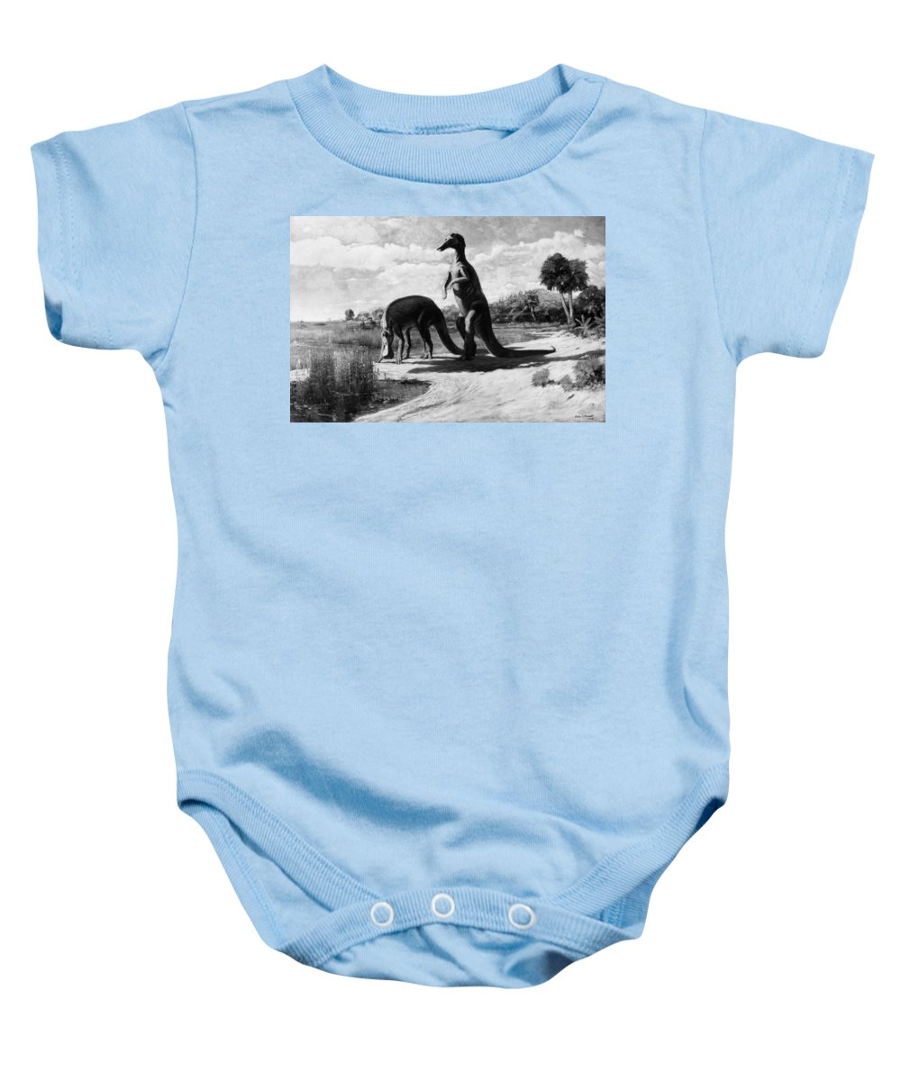 American Baby Onesie featuring the photograph Dinosaurs: Trachodon by Granger