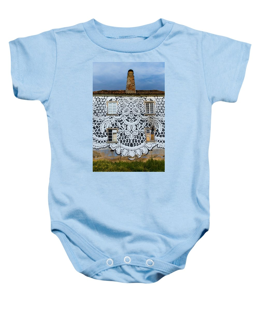 Doily House Baby Onesie featuring the photograph Doily House by Edgar Laureano