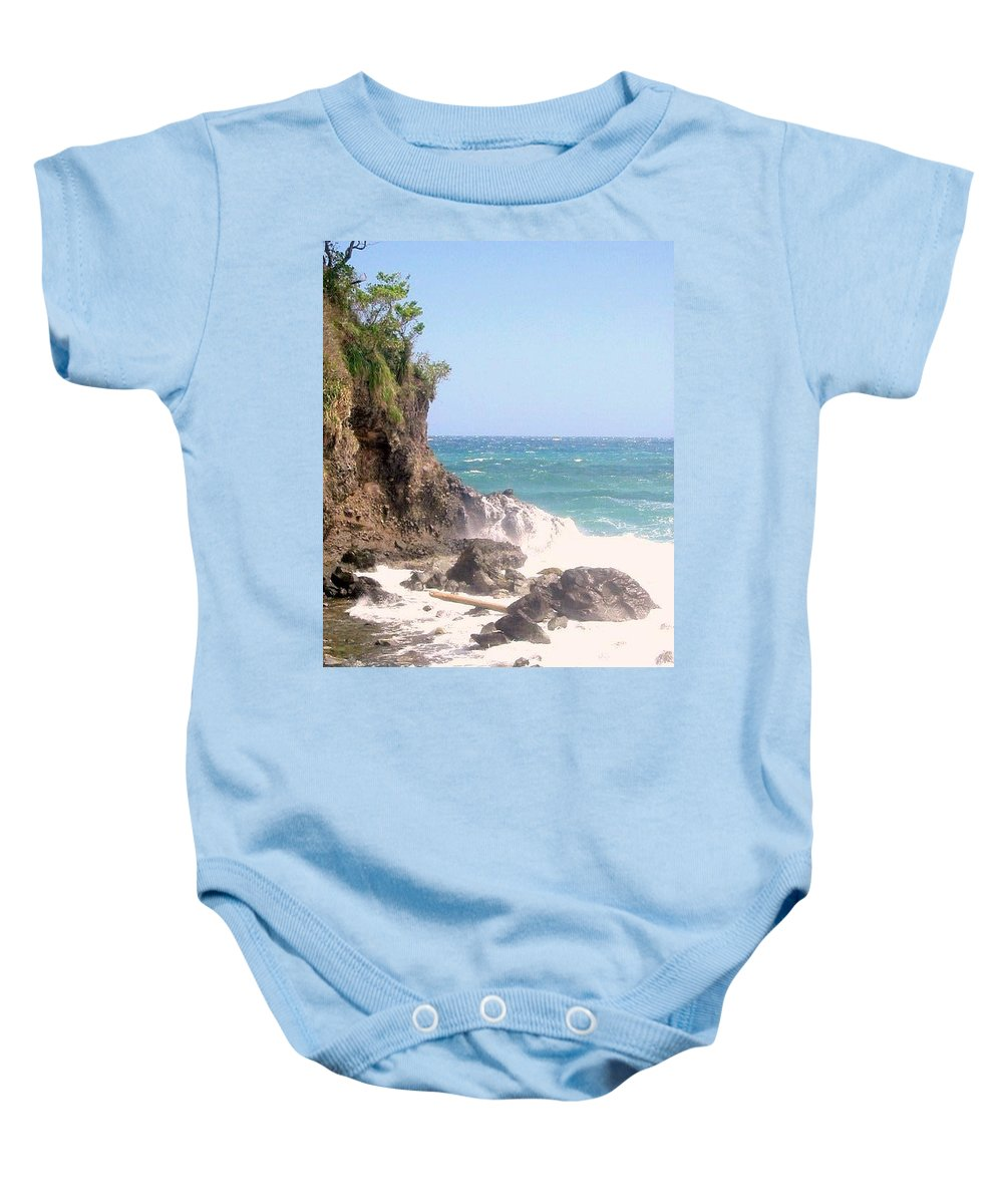 Dominica Baby Onesie featuring the photograph Dominica North Atlantic Coast by Ian MacDonald