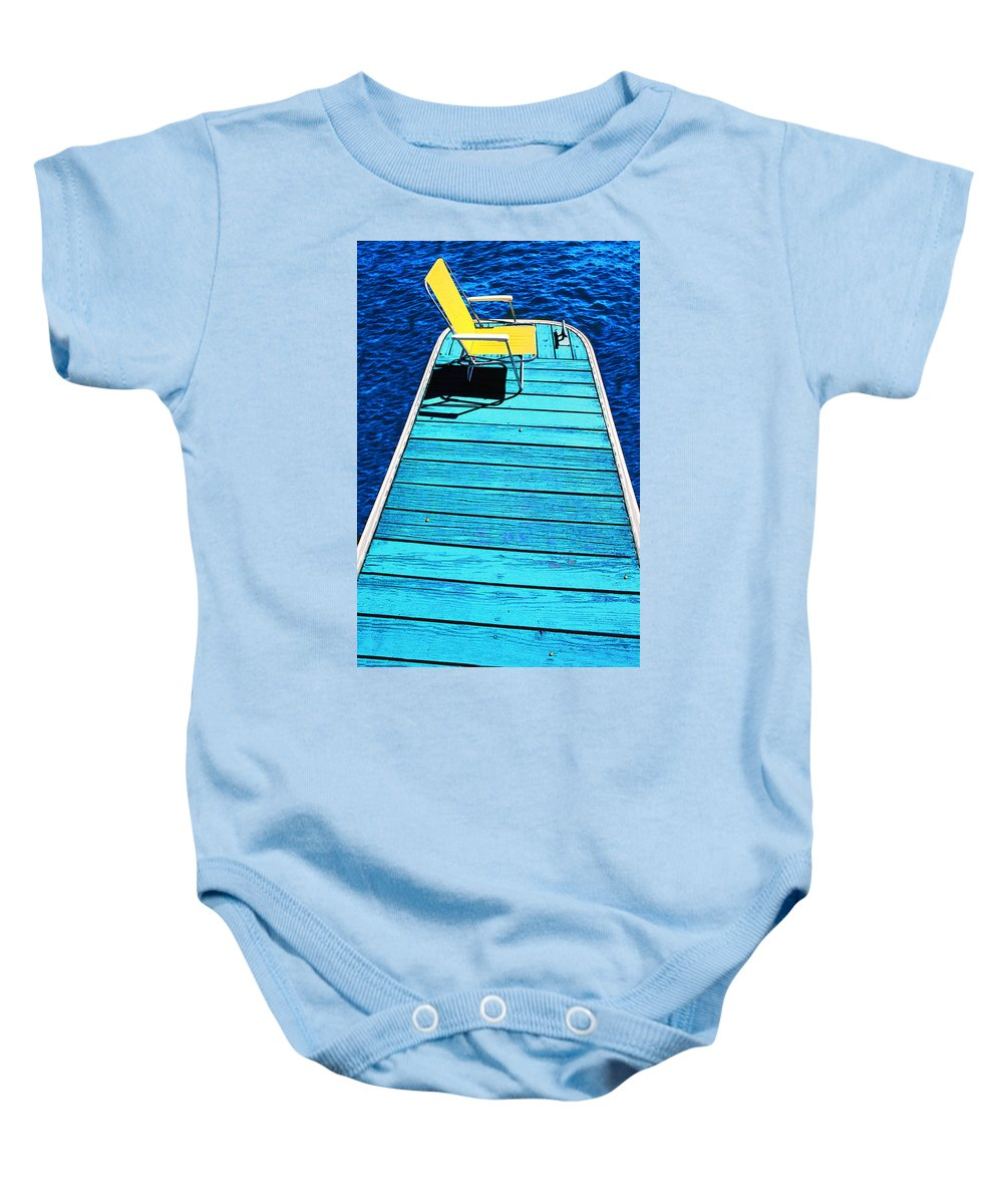 Photography Baby Onesie featuring the photograph Done Fishing by Paul Wear