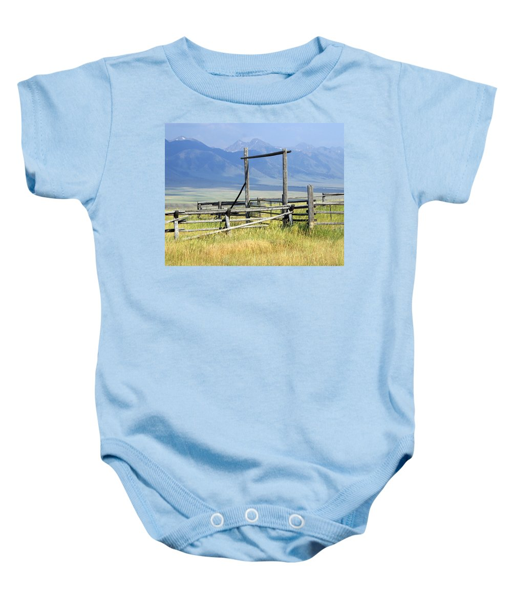 Mountains Baby Onesie featuring the photograph Don't Fence Me In by Marty Koch