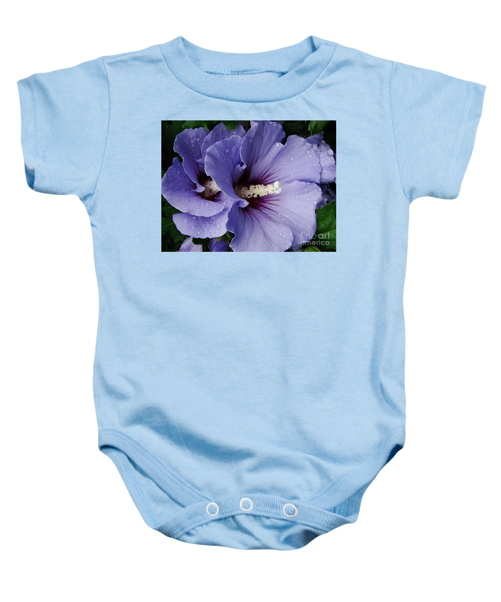 Dew Baby Onesie featuring the photograph Double Trouble by Priscilla Richardson