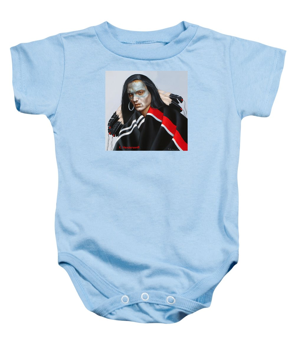 American Indian Baby Onesie featuring the painting Dream Within A Dream by K Henderson