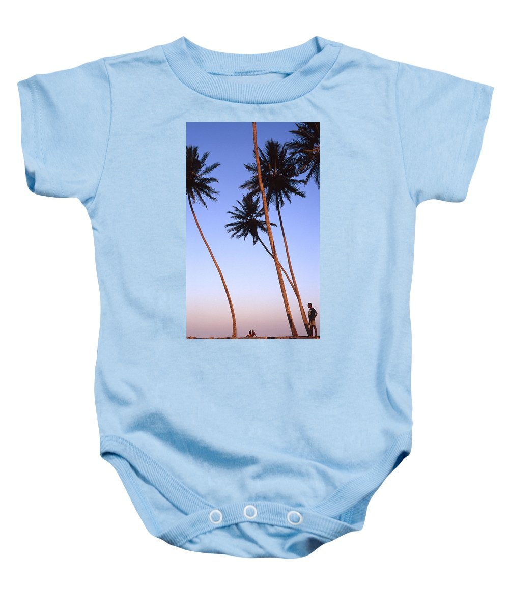 Bahia Baby Onesie featuring the photograph Dusk In Morro by Patrick Klauss