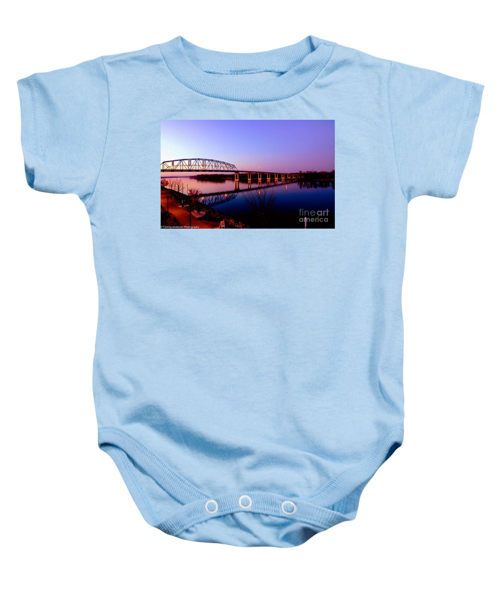 Mississippi River Baby Onesie featuring the photograph Eagle Watch Along The Mississippi by Tommy Anderson