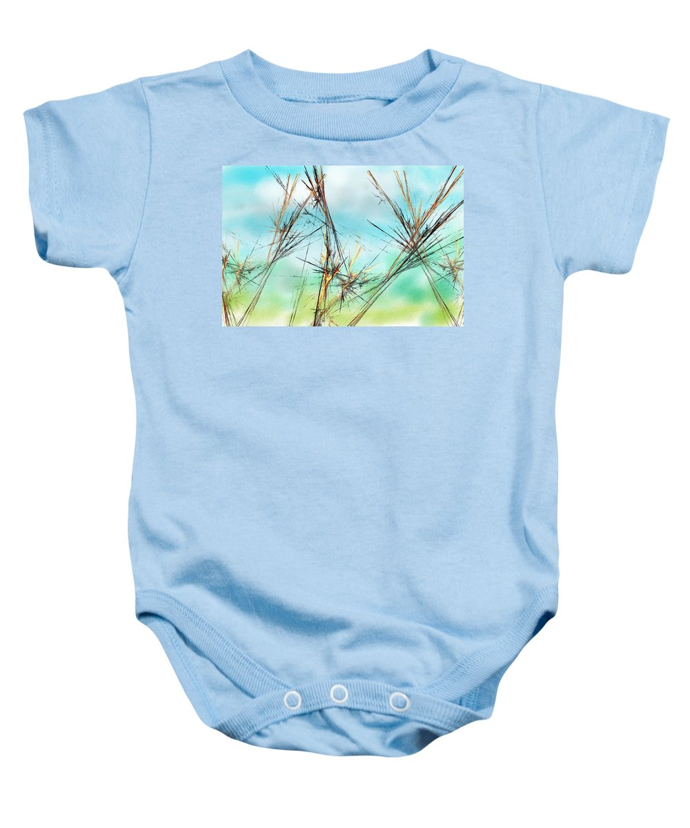 Digital Painting Baby Onesie featuring the digital art Early Spring Twigs by David Lane