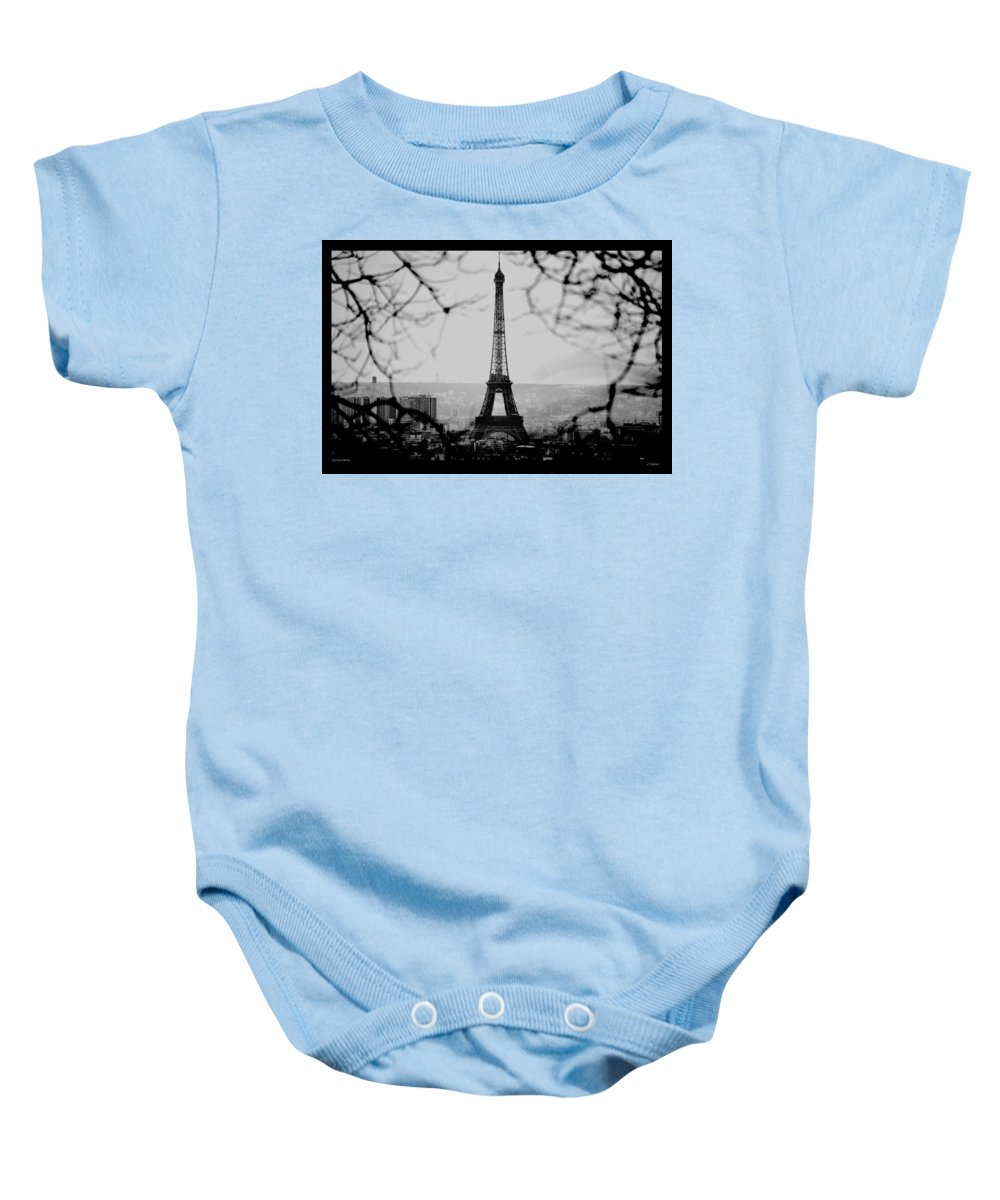 Eiffel Baby Onesie featuring the photograph Eiffel Eyeful by J Todd