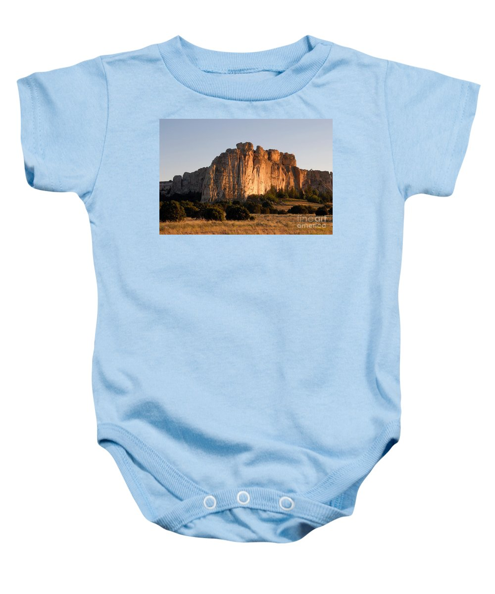 El Morro National Monument New Mexico Baby Onesie featuring the photograph El Morro by David Lee Thompson