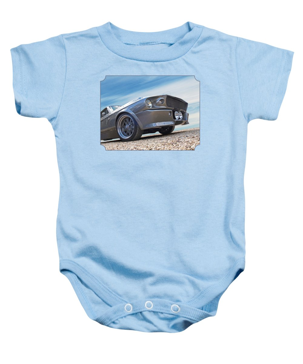 Classic Ford Mustang Baby Onesie featuring the photograph Eleanor's Day Out by Gill Billington