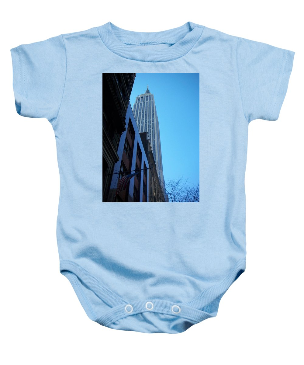 Emoire State Building Baby Onesie featuring the photograph Empire State 1 by Anita Burgermeister